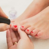 Deluxe Pedicure  (remove cuticle, file and paint)