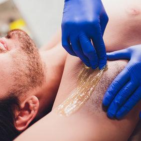 Underarm waxing for men