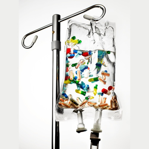 Intravenous infusion (detox, re-hydration, well-being)