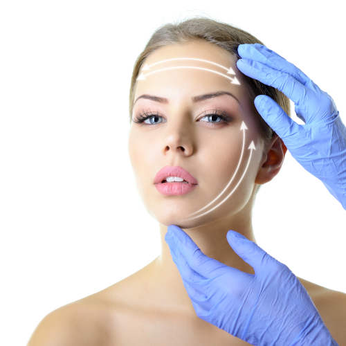 Polydioxanone Threads Lift for Cheeks or Jawline