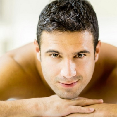Male back waxing