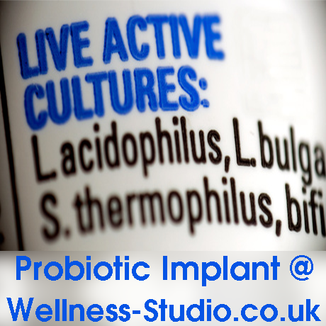 Probiotic Implant and colonic irrigation