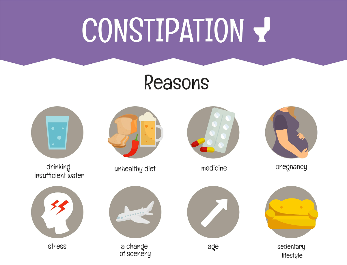 Common Causes of Constipation. About bowel movement