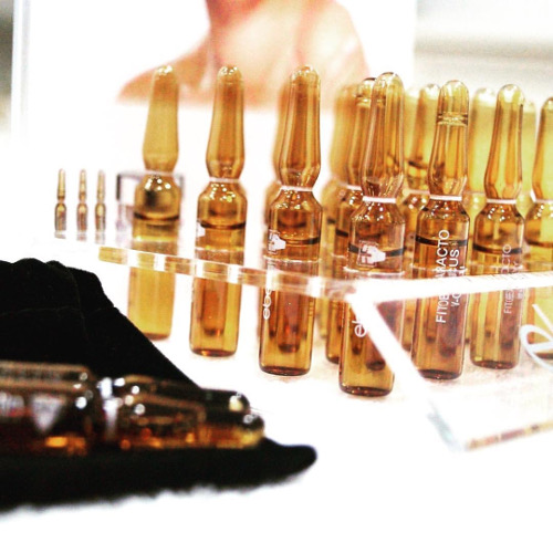 ampoules of Eberlin signature biological tailored facial