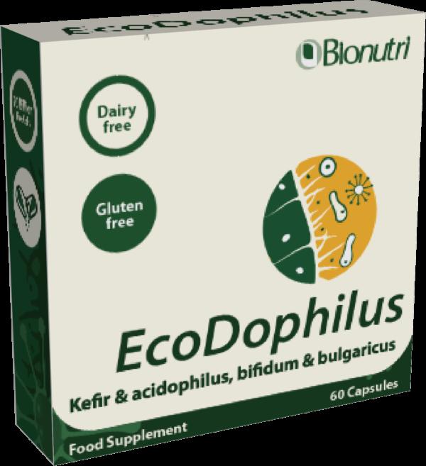 EcoDophilus. Acidophilus, Kefir, Bulgaricus and Bifidum. 60 capsules