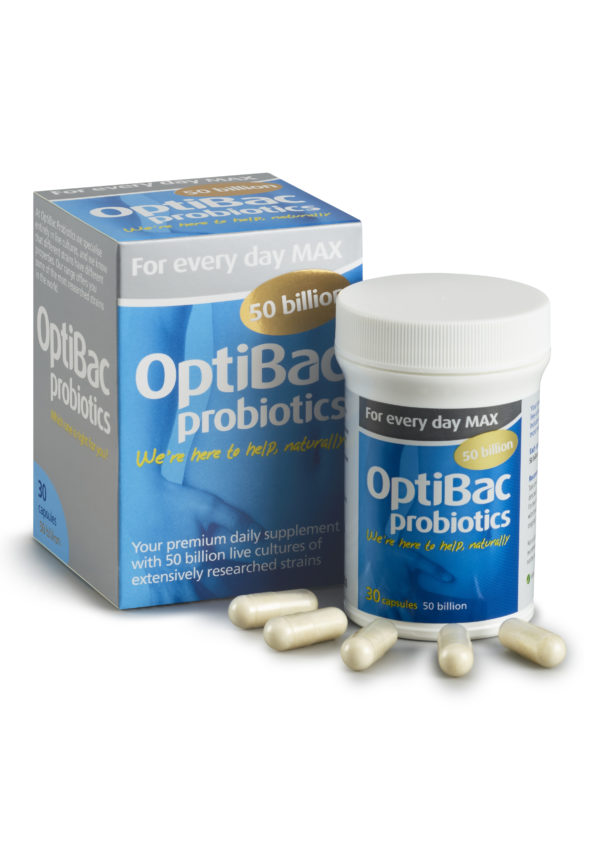OptiBac Probiotics 'For every day MAX ', Pack of 30 Capsules researched strain of acidophilus